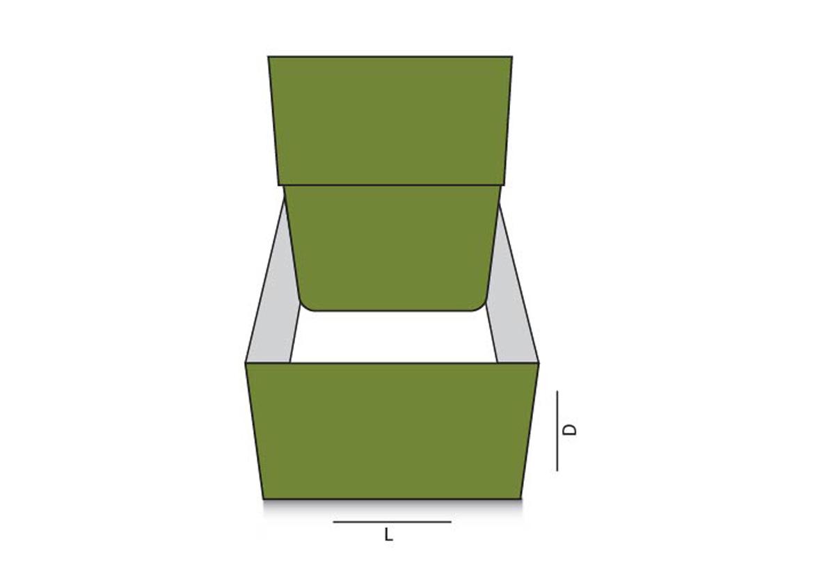 Side lock tuck top